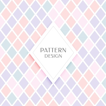 Elegante patrón de forma de diamante en colores pastel.