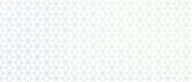 Elegante patrón de línea hexagonal