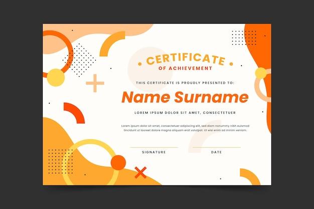 Elegante plantilla de certificado de logro degradado