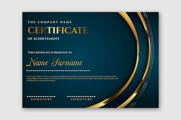 Elegante plantilla de certificado de logros