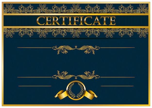 Elegante plantilla de certificado.