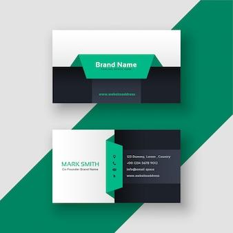 Elegante plantilla de tarjeta de visita geométrica