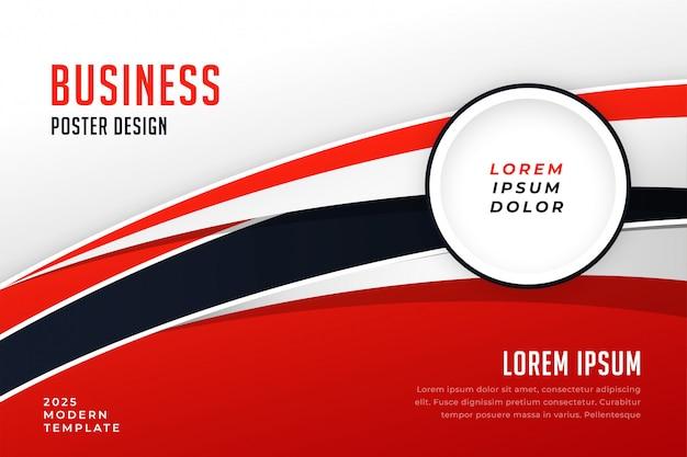 Elegante plantilla de folleto de presentación de negocios rojo