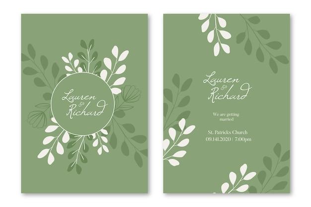Elegante plantilla de invitación de boda