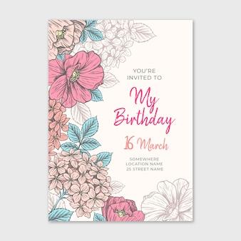 Elegante plantilla de invitación de cumpleaños