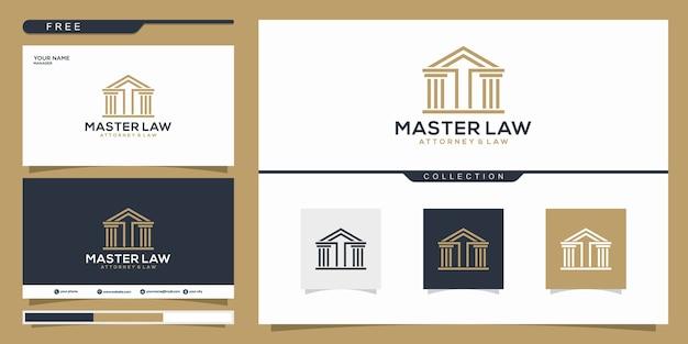 Elegante plantilla de logotipo de bufete de abogados maestro