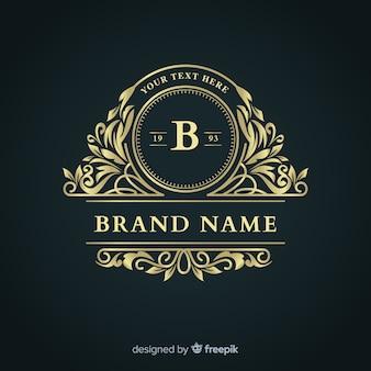 Elegante plantilla de logotipo de empresa ornamental