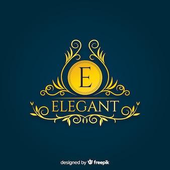 Elegante plantilla de logotipo ornamental