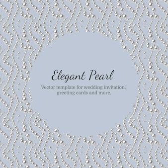 Elegante plantilla con patrón de perlas.