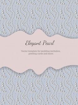 Elegante plantilla con patrón de perlas