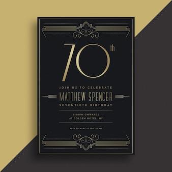 Elegante plantilla de tarjeta de cumpleaños