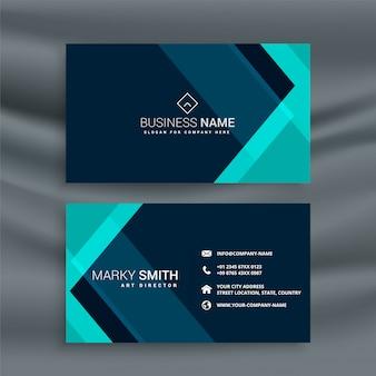 Elegante plantilla de tarjeta de visita azul oscuro