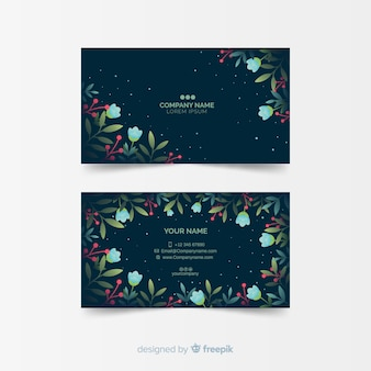 Elegante plantilla de tarjeta de visita floral