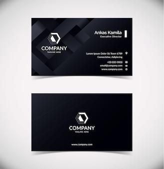 Elegante plantilla de tarjeta de visita negra