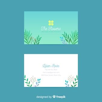 Elegante plantilla de tarjeta de visita