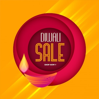 Elegante plantilla de venta de diwali en colores cálidos