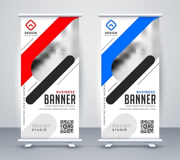 Elegante presentación de presentación roll up banner de pie en estilo moderno