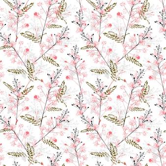 Elegante repetición de patrones sin fisuras en el vector de diseño floral de pavo real en flor para moda, tela, web, wallaper, envoltura y todas las impresiones
