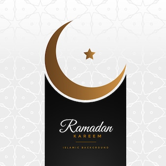 Elegante saludo del festival ramadan kareem