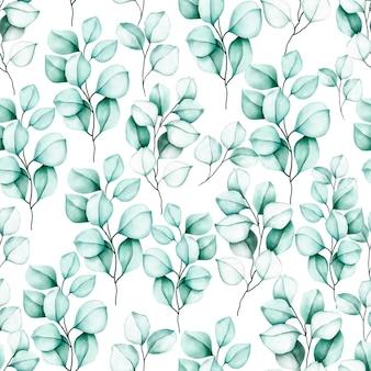 Elegante, seamless, patrón, acuarela, floral