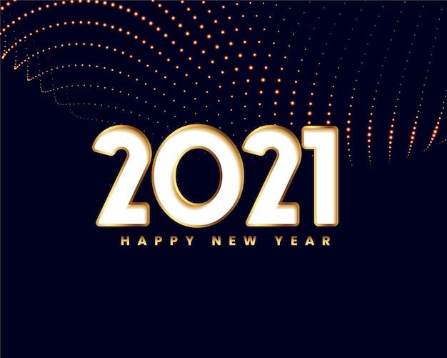 Elegante tarjeta de año nuevo en estilo dorado.