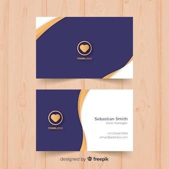 Elegante tarjeta corporativa de empresa, plantilla editable