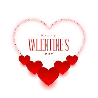 Elegante tarjeta de deseos románticos del día de san valentín