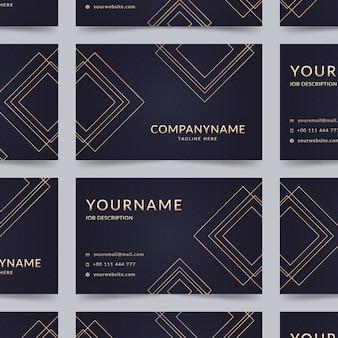 Elegante tarjeta de empresa con líneas doradas