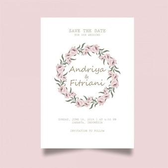 Elegante tarjeta de invitación de boda
