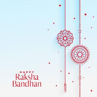Elegante tarjeta rakhi (pulsera) para raksha bandhan
