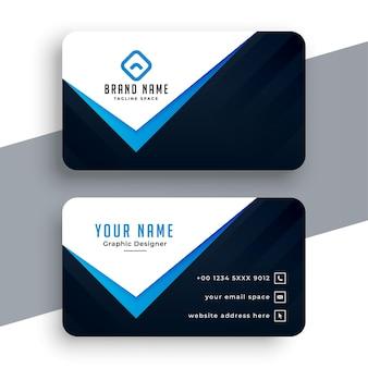 Elegante tarjeta de visita azul en estilo creativo