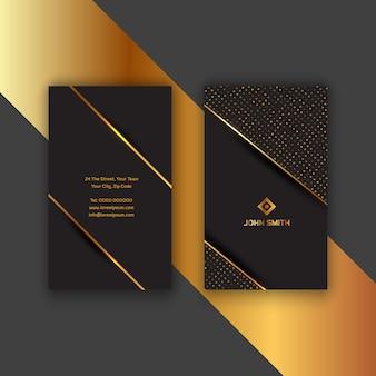 Elegante tarjeta de visita dorada y negra