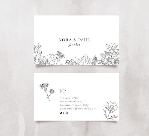 Elegante tarjeta de visita floral