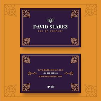 Elegante tarjeta de visita de lujo