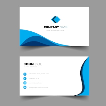 Elegante tarjeta de visita profesional plantilla de color brillante diseño