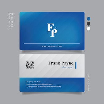 Elegante tarjeta de visita profesional