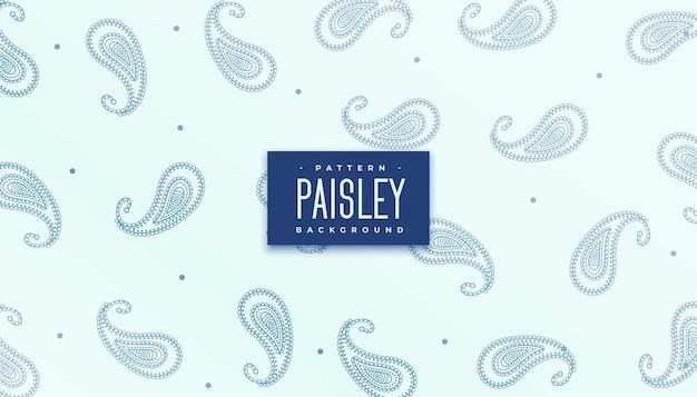 Elegante textura de patrón repetitivo paisley