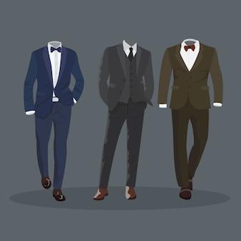 Elegante traje formal de hombre