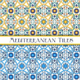 Elegantes azulejos de estilo siciliano