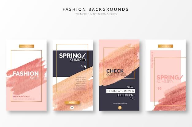 Elegantes fondos de moda para historias de insta