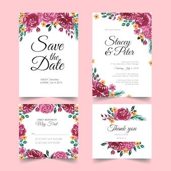 Elegantes invitaciones de boda modernas.