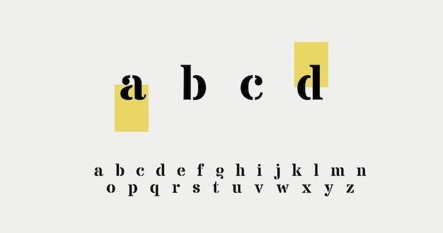 Elegantes letras del alfabeto