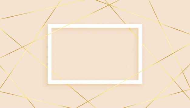 Elegantes líneas doradas fondo abstracto de baja poli