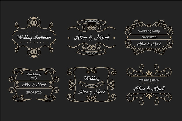 Elegantes monogramas para bodas