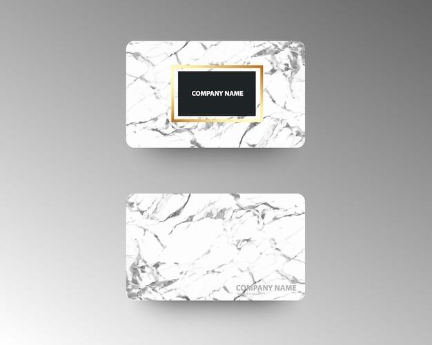 Elegantes tarjetas de visita con textura de mármol y oro