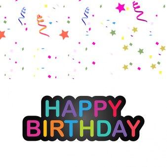 Elegent design card of happy birthday vector