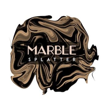 Elegent golden y black marble spot background