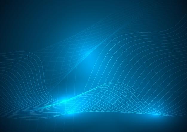 Elemento abstracto de la onda de neón para el diseño.