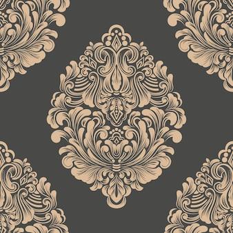 Elemento de damasco de patrones sin fisuras.