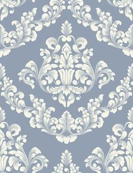 Elemento de damasco de vector. adorno de damasco antiguo de lujo clásico, textura perfecta victoriana real para fondos de pantalla, textiles, envoltura.